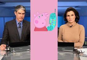 Briga entre Joice e Eduardo Bolsonaro faz JN ter que explicar quem é Peppa Pig; veja