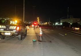 O atropelamento aconteceu no sentido Cabedelo-João Pessoa