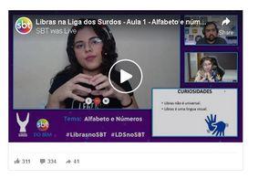 SBT e Liga dos Surdos transmitem aulas de Libras online; saiba como acessar