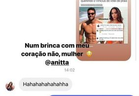 Mensagem enviada por Anitta
