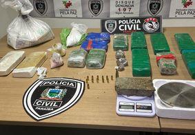 Polícia Civil apreende 22 quilos de drogas em residência no Valentina