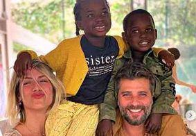Giovanna Ewbank revela como está rotina com os filhos durante isolamento social