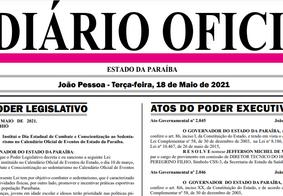 Diário Oficial do Estado hoje
