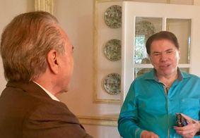 Temer almoça na casa de Silvio Santos e acerta participação em programas do SBT