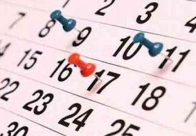 Governo divulga datas de feriados e pontos facultativos de 2019; confira