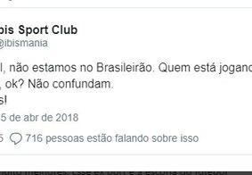 'Pior time do mundo' brinca com goleada sofrida pelo Sport no Brasileirão