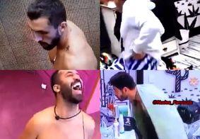 Arthur, Caio, Gil e Rodolffo acabam mostrando demais durante troca de roupa no BBB21