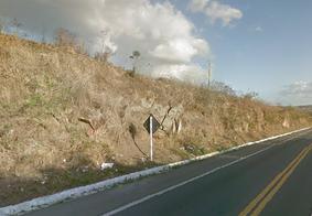 BR 104, em São Sebastião de Lagoa de Roça