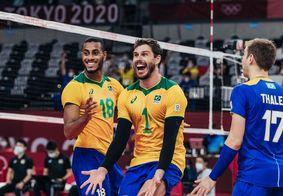 Vôlei: seleção masculina vence Japão e enfrenta Comitê Russo na semifinal