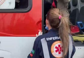 Vítima foi socorrida ao Hospital de Emergência e Trauma da capital