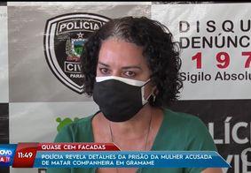 Delegada chora ao comentar caso de mulher morta com 96 facadas