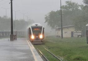 Funcionamento da linha férrea foi alterado em virtude das fortes chuvas