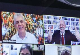 Lula dá boas-vindas a Ricardo Coutinho e o compara a Rivelino