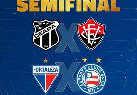 Semifinais definidas: Bahia, Fortaleza, Vitória e Ceará brigam por mais um título da Copa do Nordeste