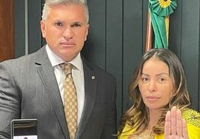 Julian Lemos e Walkyria Santos, em Brasília