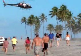 Vídeo mostra momento do resgate de criança em praia de Lucena, na PB; veja