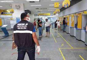 Cinco agências bancárias são autuadas durante fiscalização em João Pessoa
