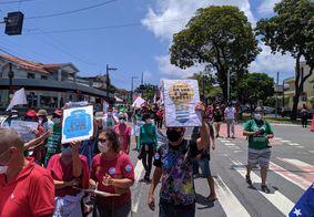 Protesto contra Bolsonaro reúne manifestantes em João Pessoa