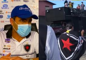 Apresentação de Rogério Zimmermann é marcada por protestos de torcedores do Botafogo-PB