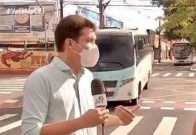 Jornalista quase foi atropelado por ônibus
