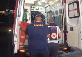 Ciclista com sintomas de embriaguez é atingido por moto em João Pessoa