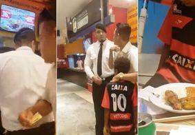 Segurança tenta impedir cliente de pagar almoço para menino e atitude repercute na web