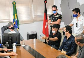 João Azevêdo e Nelson Piquet
