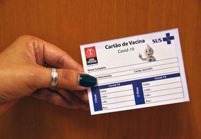 Cartão de vacinação em João Pessoa