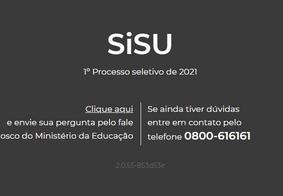 Capa do site do Sisu