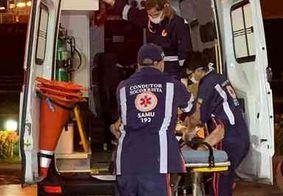 Homem fica ferido após ser atropelado no centro de João Pessoa