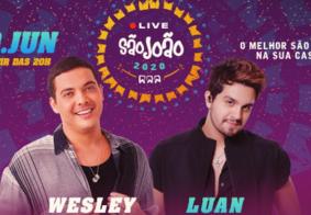Ao vivo: assista a Live de São João de Wesley Safadão e Luan Santana