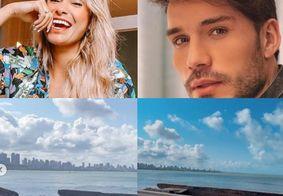 Sarah Andrade e Lucas Viana postam stories em João Pessoa e web especula reconciliação