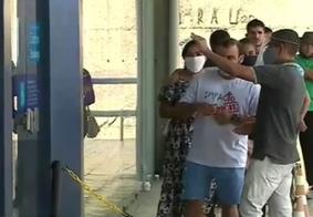 Vídeo: movimento aumenta em agência bancária no centro de JP com pagamento do auxílio emergencial