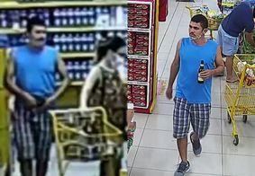 Câmera flagra momento em que bandido assalta cliente dentro de supermercado no Ceará; veja