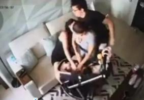 Imagens fortes: esposa de DJ Ivis expõe vídeos de agressão