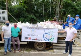 100 famílias em vulnerabilidade recebem doações de alimentos na PB