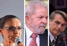 Pesquisa para presidente em 2018: Lula tem 36%, Bolsonaro acumula 16% e Marina, 14%
