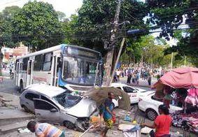 Condutor de ônibus que invadiu calçada no Centro de JP reafirma que passou mal