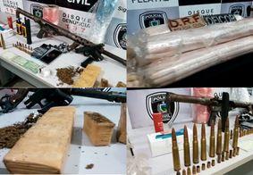 Polícia da PB dá detalhes de operação apreendeu fuzil, dinamite e desarticulou grupo criminoso